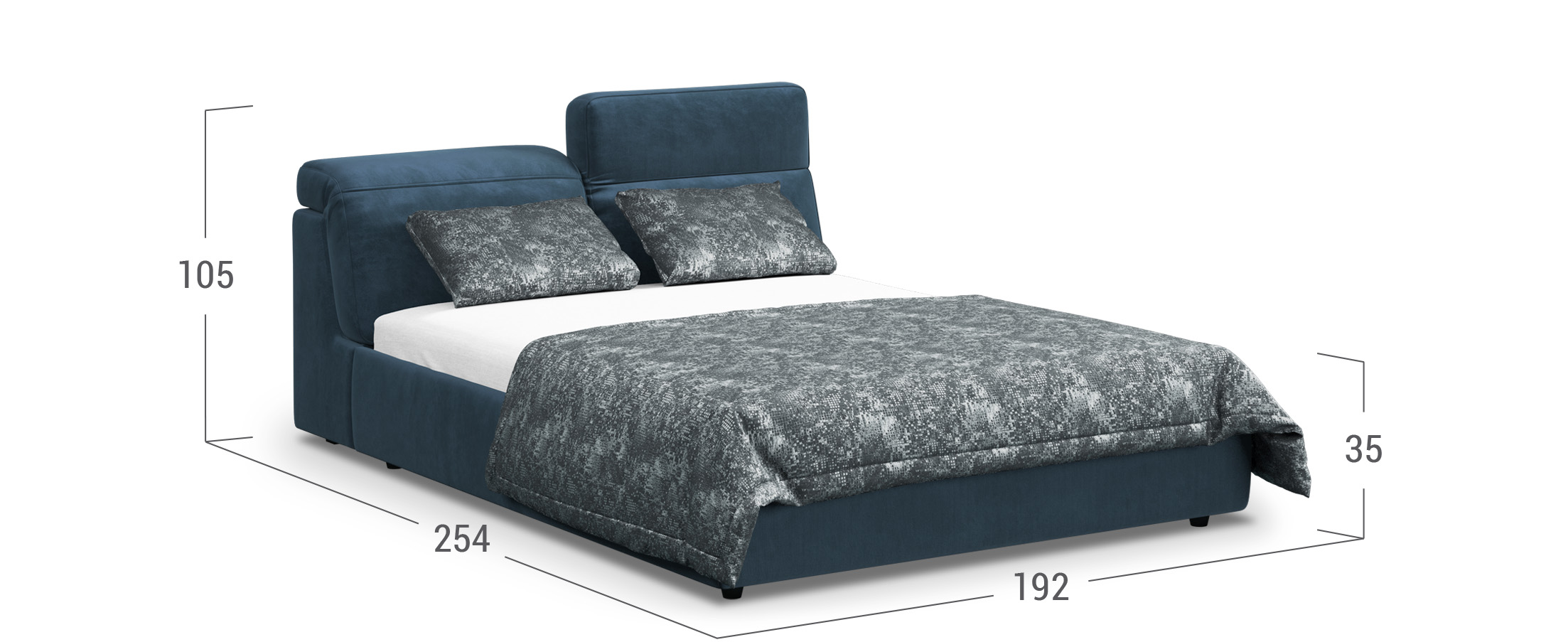 Кровать двуспальная MOON 1107